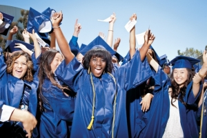 Graduates at University High School in Irvine, California ( Chris McPherson for Newsweek)