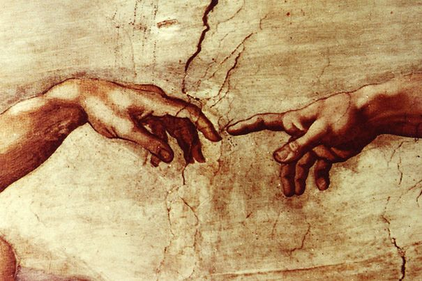 Creation of Man - (Sistine Chapel) by Michelangelo