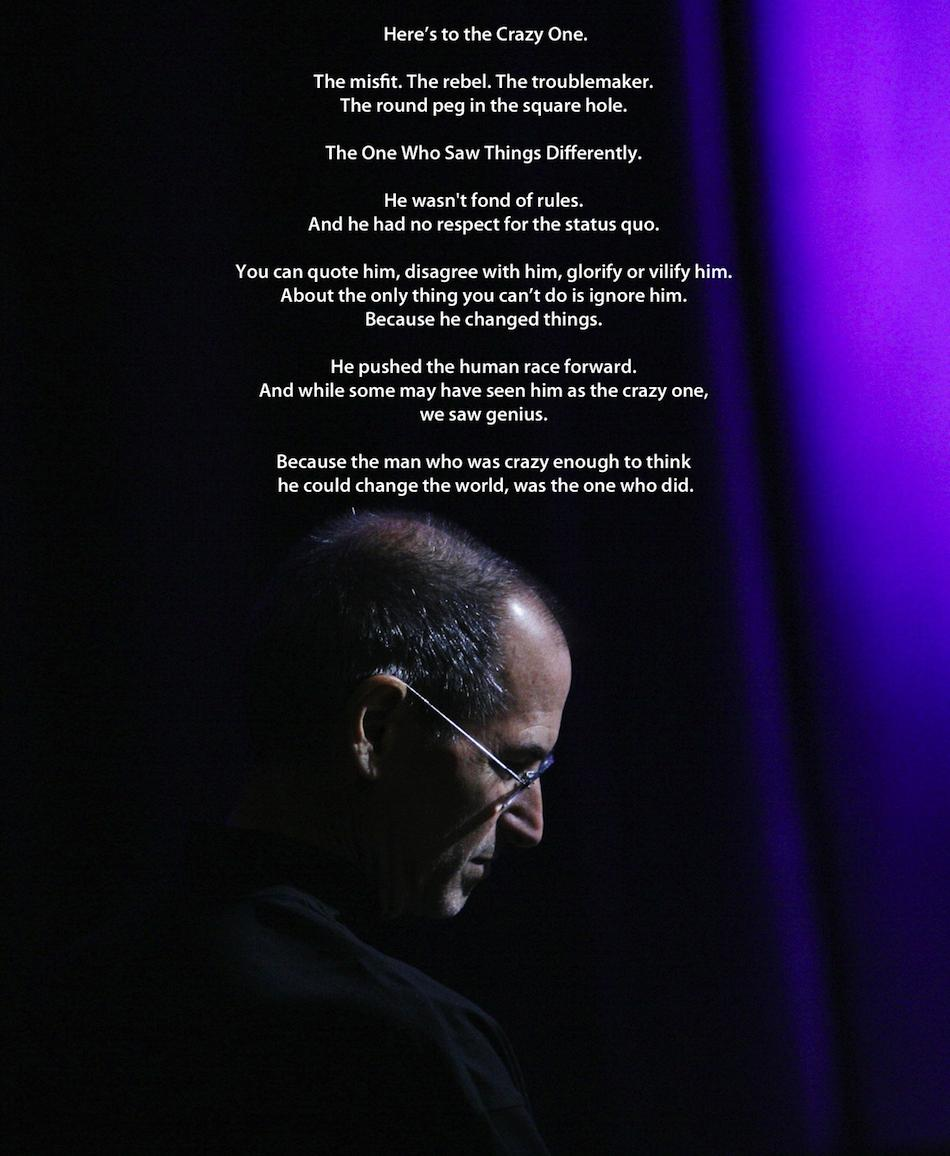 """Steve Jobs: """"People With Passion Can Change The World For"""