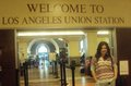 Leslie at Union Station in Los Angeles, California, USA.