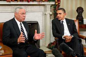 Colin Powell & Barack Obama