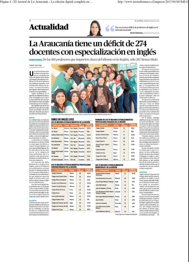 Austral - Deficit de docentes