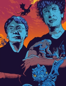Kazuo Ishiguro and Neil Gaiman. Illustration: Tim McDonagh